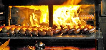 sausages on fair for Giro d'Italia delle Salsiccie
