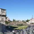 Rome, colosseum and fori imperiali. The largest open-air museum in the world.