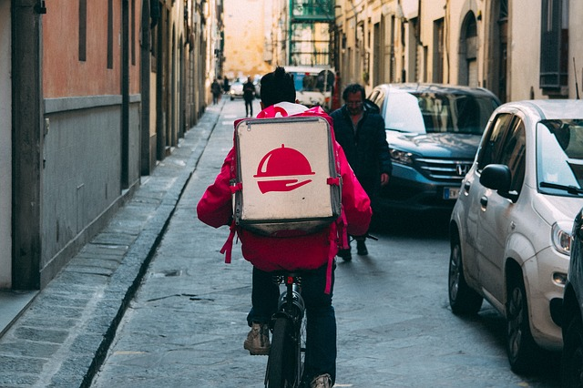Italians are falling in love, with food delivery