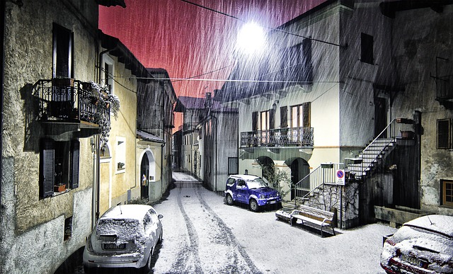 Snow and ice on south of italy