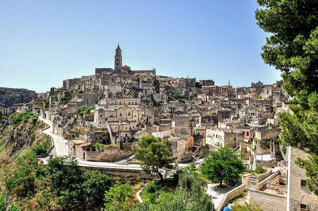 rocks of Matera, european capital of culture in 2019