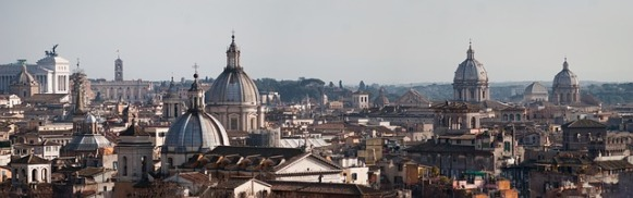 Panorama from Rome roofs