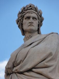 dante alighieri - statue in florence