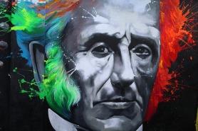 alessandro manzoni from a graffiti in Lecco, Italy