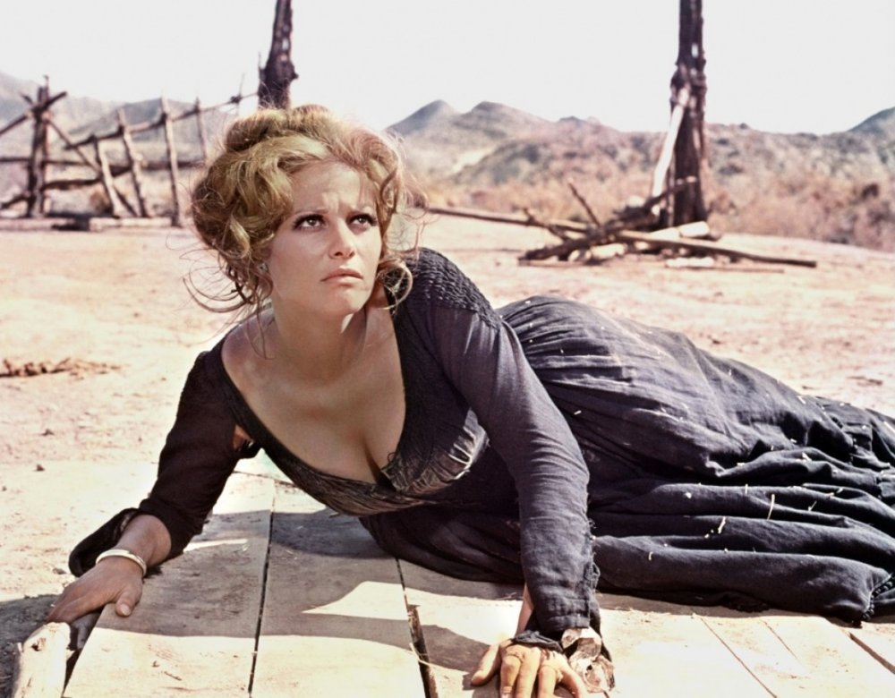 a scene from: ''Once Upon a Time in the West'' (1968) Claudia Cardinale