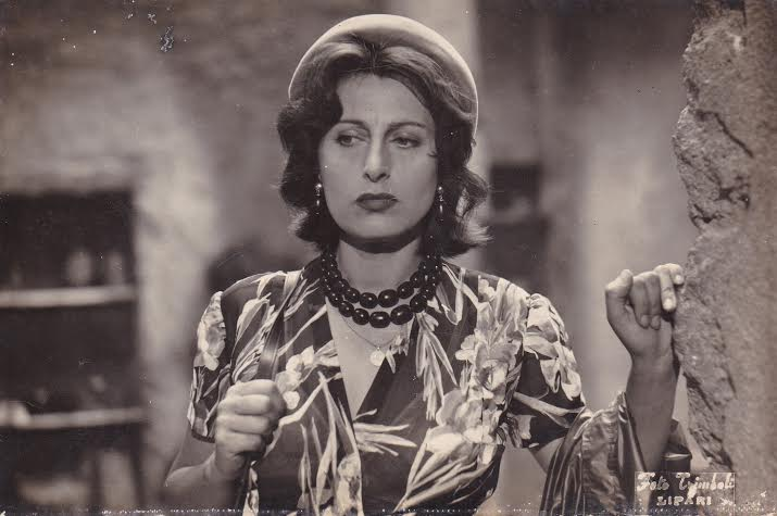 a scene from ''Volcano'' (1950).  Anna Magnani