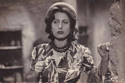 a scene from ''Volcano'' (1950).  Anna Magnani